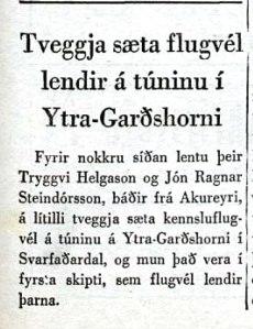 Forsíðufrétt í Laugardagsblaðinu 25. júní 1955. Árni Bjarnarson bóksali á Akureyri gaf þetta blað út á árunum 1954-1962.