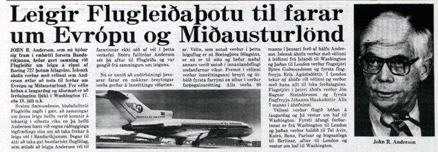 Morgunblaðsfrétt 2. júlí 1980.