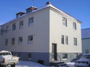 Svarfdælingahúsið að Norðurgötu 1 á Akureyri. Myndin er tekin í mars  2011 og birt á vefnum akv.is.
