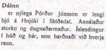 Klausa í Verkamanninum á Akureyri 4. nóvember 1920.