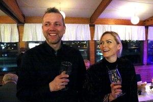 Hjónin Steini Jaxl og Jóhanna Vigdís á þorrablóti Sunnan svarfdælinga fyrr í vetur.