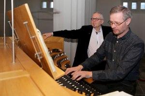 Samstarfsmenn í Hallgrímskirkju, sóknarpresturinn Sigurður Árni, og organistinn, Björn Steinar Sólbergsson.