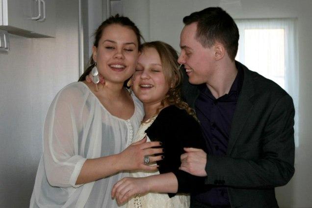 Börn Friðbjörns og Aðalheiðar. Frá vinstri: Evíta Alice Möller, Alexandra Ösp Möller og Birgir Arnór.