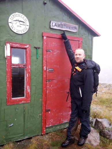 Við Lamba, skála Ferðafélags Akureyrar á Glerárdal.