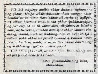 Þakkarávarp í Degi 23. nóvember 1955.