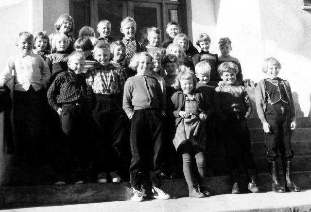 Húsbekkingar veturinn 1960-1961. Mynd- Júlíus J. Daníelsson.