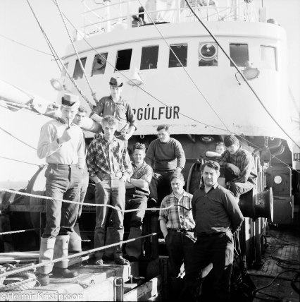 Áhöfnin á Björgúlfi í maí 1969.