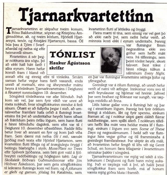1_19.des.1993, Haukur Ág